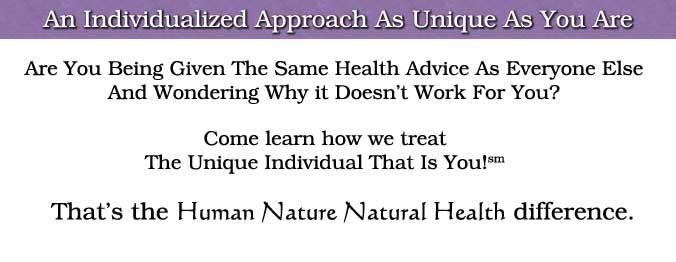Our Individualized Approach to Holistic Health Care